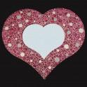 Miroir Crackle Coeur